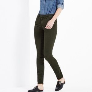 AG The Prima Mid-Rise Cigarette Jeans Army Green
